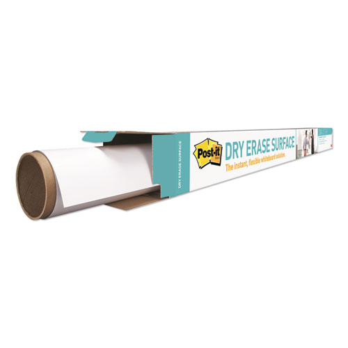 "Dry Erase Surface with Adhesive Backing, 48"" x 36"", White 