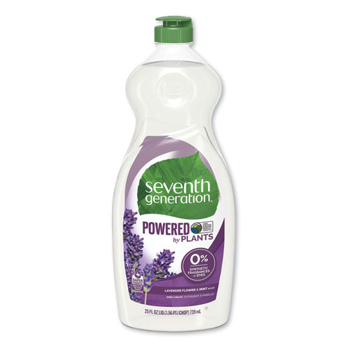 Natural Dishwashing Liquid, Lavender Floral and Mint, 25 oz Bottle, 12/Carton