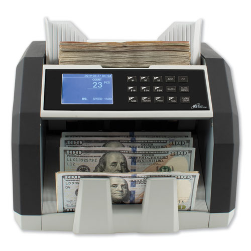Front Load Bill Counter w/ Value Counting/Counterfeit Detection, 1500 Bills/Min