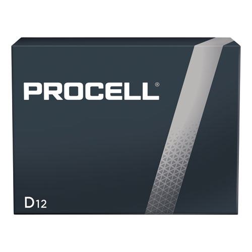 Procell Alkaline D Batteries, 12/Box | by Plexsupply