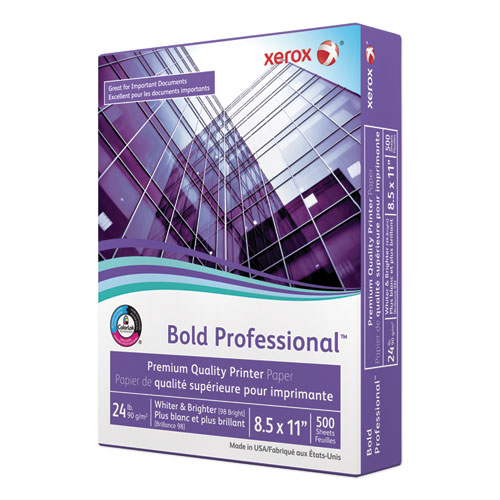 Xerox - premium laser paper, 98 brightness, 24lb, 8-1/2 x 11, white, 500 sheets/ream, sold as 1 rm