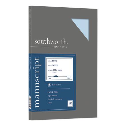 25% Cotton Manuscript Cover, 30lb, 9 x 12.5, 100/Pack | by Plexsupply