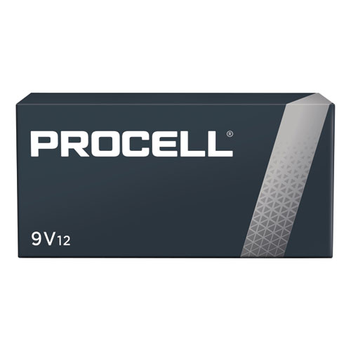 Procell Alkaline 9V Batteries, 12/Box | by Plexsupply