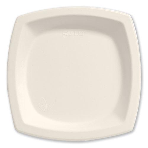 "Bare Eco-Forward Sugarcane Dinnerware, 6 7/10"" Plate, Ivory, 125/Pk | by Plexsupply"