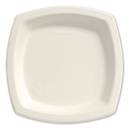"Bare Eco-Forward Sugarcane Dinnerware, 8 3/10"" Plate, Ivory, 125/Pk 
