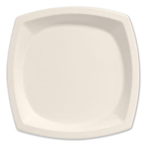 "Bare Eco-Forward Sugarcane Dinnerware, 10"" dia, Plate, Ivory, 125/Pk | by Plexsupply"