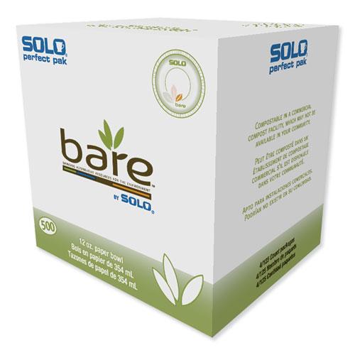Bare Eco-Forward Sugarcane Dinnerware, 12oz, Bowl, Ivory, 125/Pk, 8 Pks/Ct | by Plexsupply