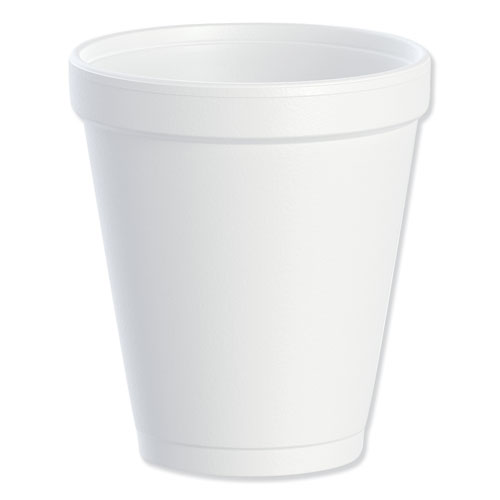 Foam Drink Cups, 8oz, White, 25/Bag, 40 Bags/Carton