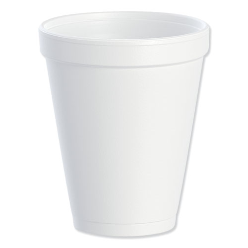 Foam Drink Cups, 10oz, White, 25/Bag, 40 Bags/Carton