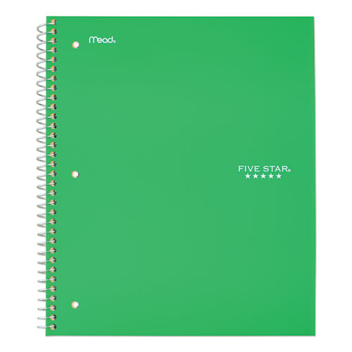 Wirebound Notebook, 1 Subject, Medium/College Rule, Green Cover, 11 x 8.5, 100 Pages