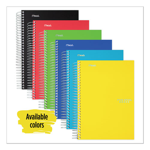 Wirebound Notebook, 2 Subjects, College Rule, Assorted Color Covers, 9.5 x 6.5, 100 Sheets | by Plexsupply