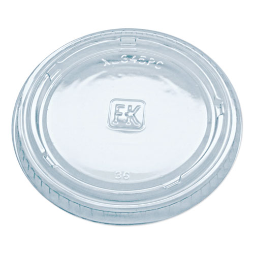 Portion Cup Lids, Fits 3.25-5.5oz Cups, Clear, 2500/Carton