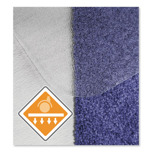 Floortex® Cleartex Unomat Anti-Slip Chair Mat for Hard Floors/Flat Pile Carpets, 60 x 48, Clear