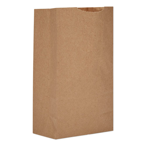 "Grocery Paper Bags, 30 lbs Capacity, #3, 4.75""w x 2.94""d x 8.56""h, Kraft, 500 Bags BAGGK3500"