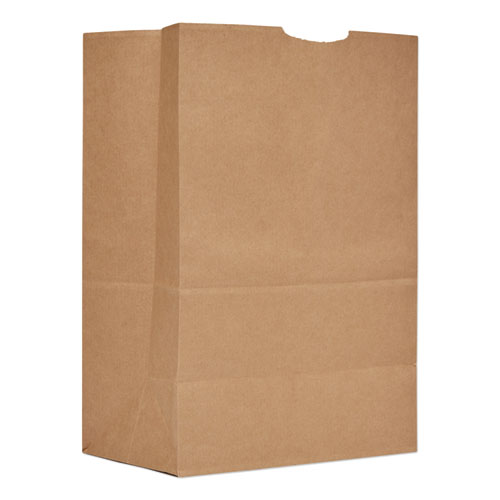 Grocery Paper Bags, 57 lbs Capacity, 1/6 BBL, 12w x 7d x 17h, Kraft, 500 Bags