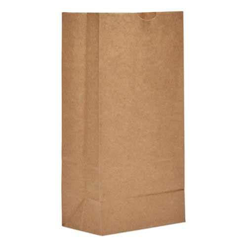 Grocery Paper Bags, 50 lbs Capacity, 8, 6.13w x 4.13d x 12.44h, Kraft, 500 Bags