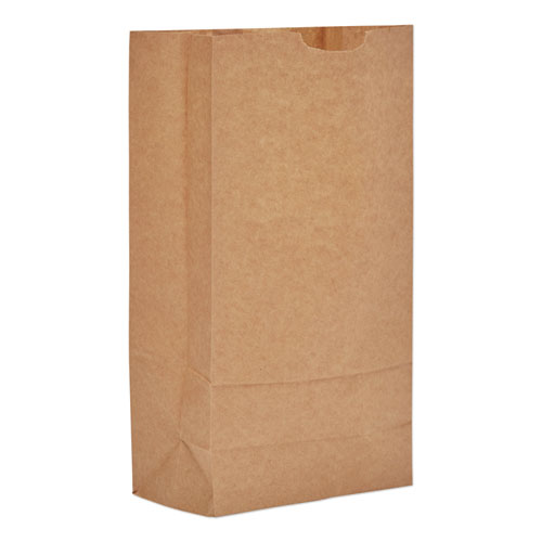 Grocery Paper Bags, 35 lbs Capacity, 10, 6.31w x 4.19d x 13.38h, Kraft, 500 Bags