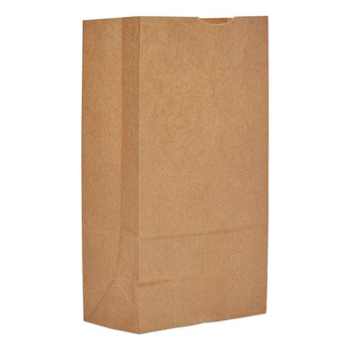 "Grocery Paper Bags, 50 lbs Capacity, #12, 7""w x 4.38""d x 13.75""h, Kraft, 500 Bags BAGGH12"