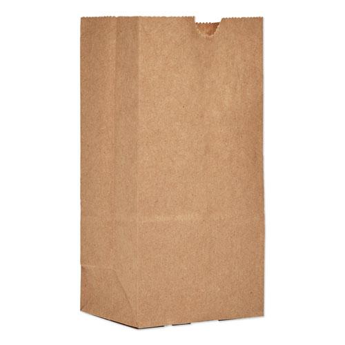 "Grocery Paper Bags, 30 lbs Capacity, #1, 3.5""w x 2.38""d x 6.88""h, Kraft, 500 Bags BAGGK1500"