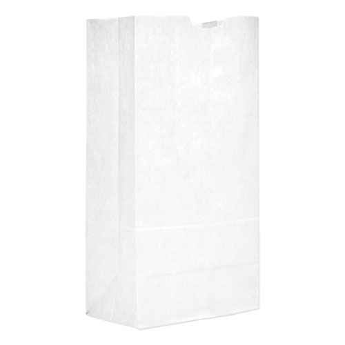 Grocery Paper Bags, 40 lbs Capacity, 20, 8.25w x 5.94d x 16.13h, White, 500 Bags