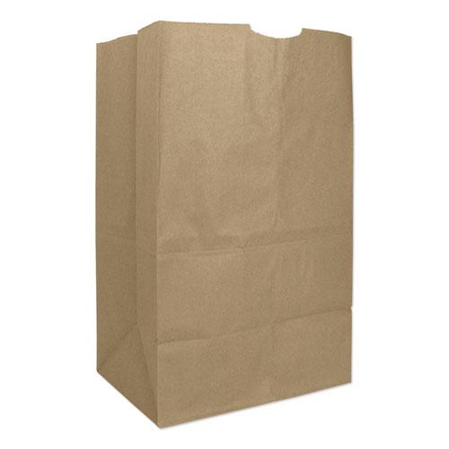 """Grocery Paper Bags, 57 lbs Capacity, #20 Squat, 8.25""""w x 5.94""""d x 13.38""""h, Kraft, 500 Bags BAGGX2060S"""