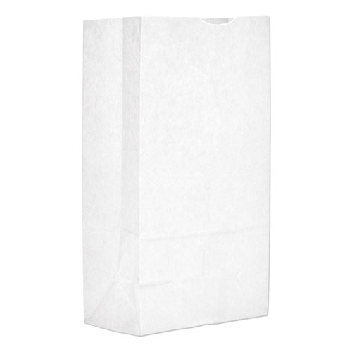 """Grocery Paper Bags, 40 lbs Capacity, #12, 7.06""""w x 4.5""""d x 13.75""""h, White, 500 Bags"""