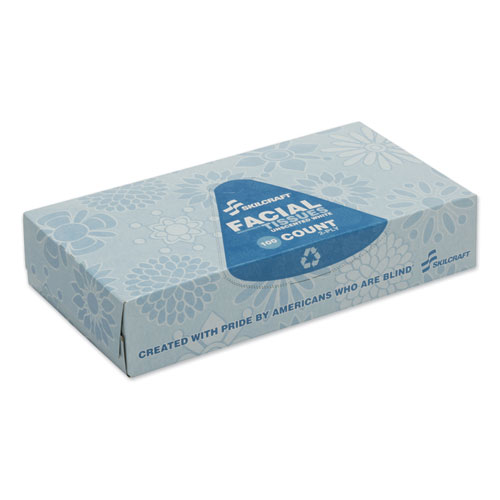 8540016321024, SKILCRAFT, Facial Tissue, 2-Ply, White, 100 Sheets/Pack, 12 Packs/Box