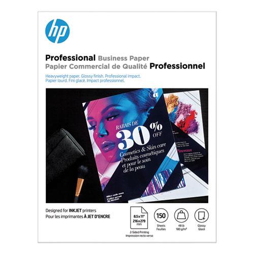 Inkjet Brochure Paper, 98 Bright, 48lb, 8.5 x 11, White, 150/Pack