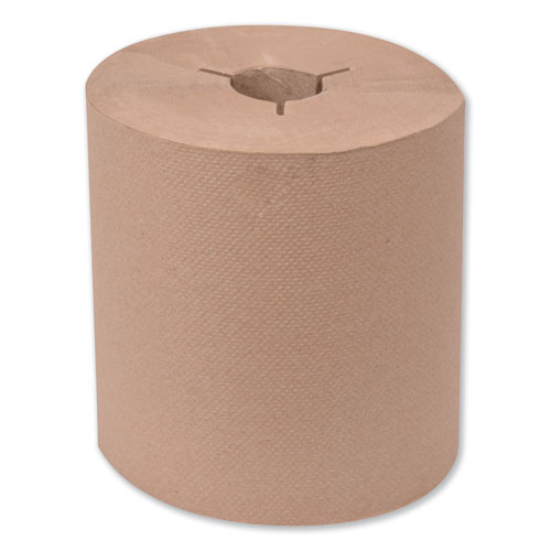 Universal Hand Towel Roll, Notched, 8 x 630 ft, Natural, 6 Rolls/Carton