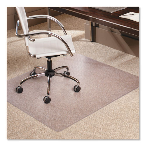 "Multi-Task Series AnchorBar Chair Mat for Carpet up to 0.38"", 46 x 60, Clear 