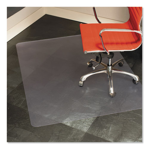 Multi-Task Series Chair Mat for Hard Floors, Heavier Use, 46 x 60, Clear | by Plexsupply