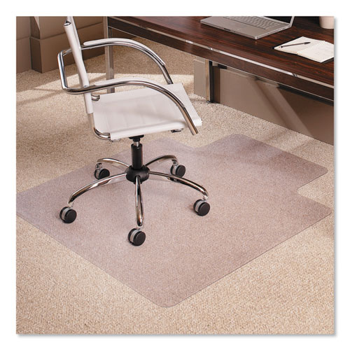 "Multi-Task Series AnchorBar Chair Mat for Carpet up to 0.38"", 45 x 53, Clear 