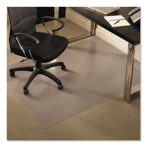 EverLife Chair Mats for Medium Pile Carpet, Rectangular, 46 x 60, Clear | by Plexsupply