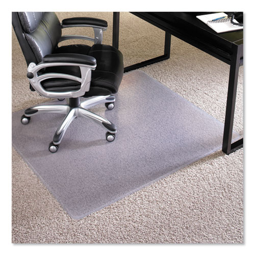"Performance Series AnchorBar Chair Mat for Carpet up to 1"", 46 x 60, Clear 