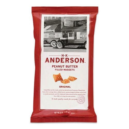 HK Anderson™ Peanut Butter Filled Pretzel Nuggets, Original, 2.5 oz Packets, 8/Carton
