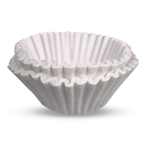 Commercial Coffee Filters, Gourmet C Funnel, 8-Cup, White, 500/Pack, 2 Packs/Carton