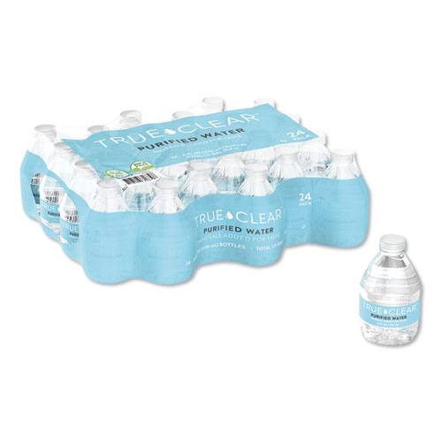 Purified Bottled Water, 8 oz Bottle, 24 Bottles/Carton