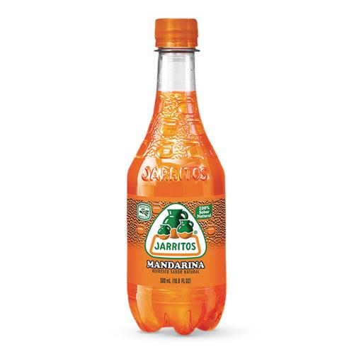 Mandarin Soda, 16.9 oz Bottle, 24/Carton