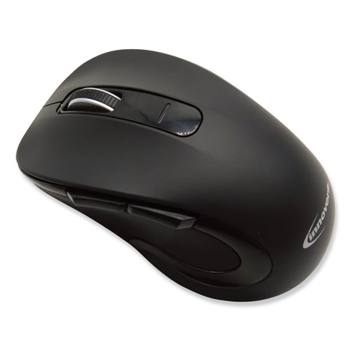 Wireless Ambidextrous Mouse, 2.4 GHz Frequency/26 ft Wireless Range, Left/Right Hand Use, Black
