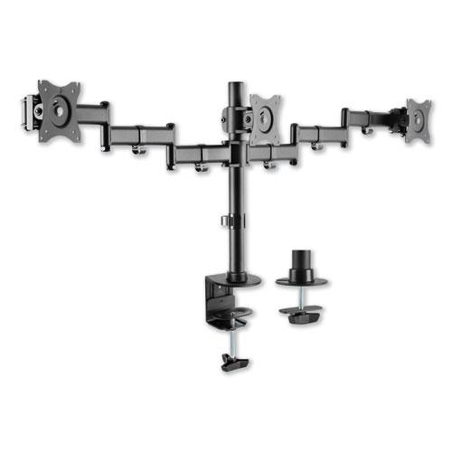 AdaptivErgo Pole-Mounted Monitor Arm, Triple Monitor up to 27, Black