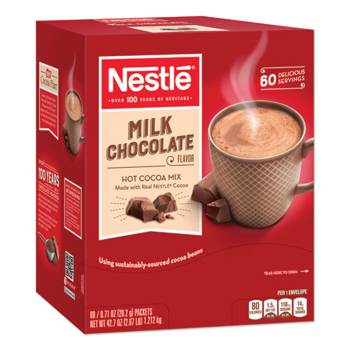 Hot Cocoa Mix, Milk Chocolate, 0.71 oz Packet, 60 Packets/Box