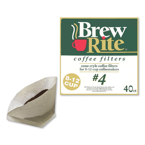 Coffee Filters, Cone Style, 40/Box