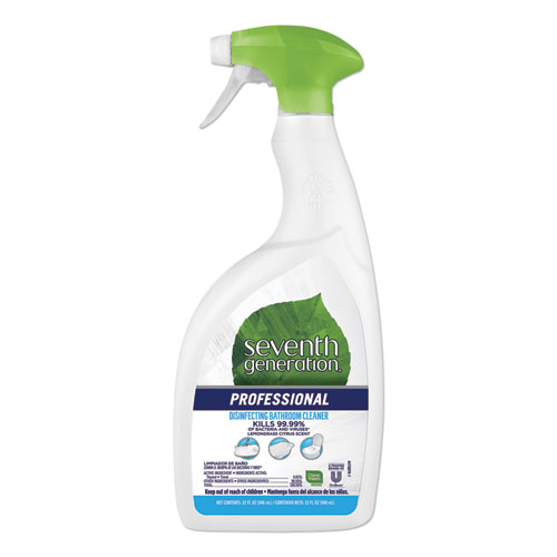 Disinfecting Bathroom Cleaner, Lemongrass Citrus, 32 oz Spray Bottle, 8/Carton