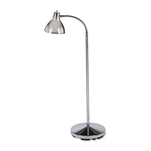 """Classic Incandescent Exam Lamp, Three Prong, 10""""w x 10""""d x 74""""h, Stainless Steel"""