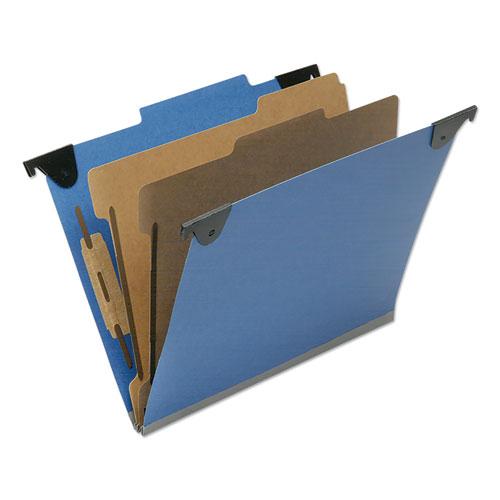 7530016817011 SKILCRAFT Classification Folder, 2 Dividers, Letter Size, Royal Blue, 10/Box