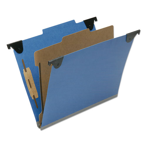7530016816248 SKILCRAFT Classification Folder, 1 Divider, Letter Size, Royal Blue, 10/Box