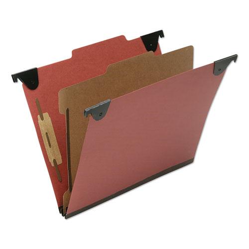 7530016816249 SKILCRAFT Classification Folder, 1 Divider, Letter Size, Red, 10/Box