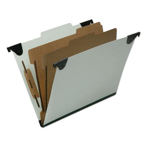 7530016816250 SKILCRAFT Classification Folder, 2 Dividers, Letter Size,  Light Green, 10/Box