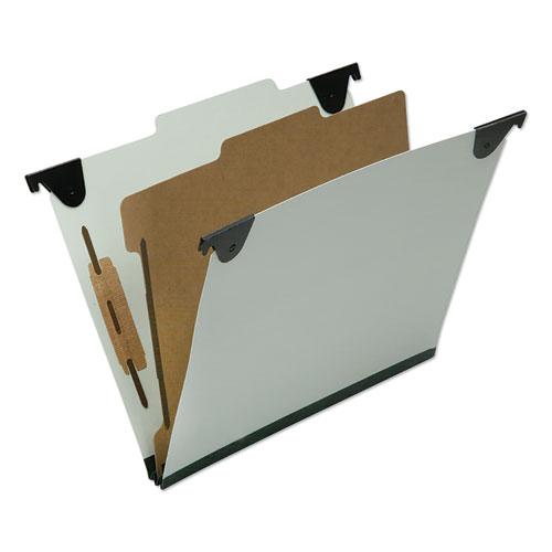7530016816253 SKILCRAFT Classification Folder, 1 Divider, Letter Size, Light Green, 10/Box