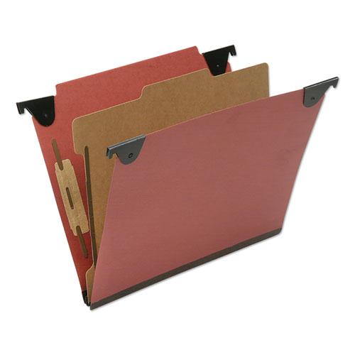 7530016815829 SKILCRAFT Classification Folder, 1 Divider, Letter Size, Red, 10/Box